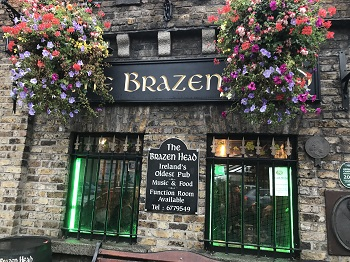 The Brazen Head in Dublin, Ireland
