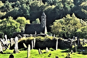 Glendalough Church in Wicklow Co. Ireland