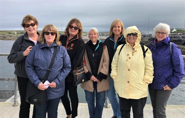 Group Inisheer, on the Aran Islands, Ireland